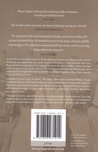 Stuart Adamson book - rear cover
